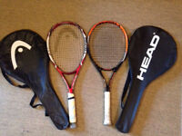 2x Head Tennis Rackets & Cases