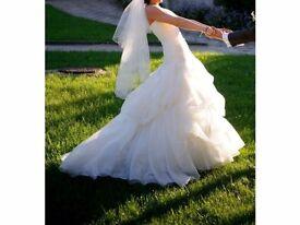 Maggie Sottero white wedding dress size 8-10