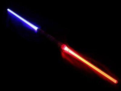 DOPPEL Laserschwert 110 cm Leuchtschwert Lichtschwert Star Wars 3 Farben NEU !!!