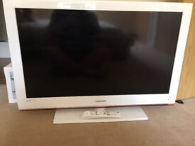 "White Samsung 40"" HD tv"