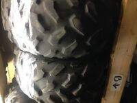PAIR of USED Dunlop KT195 ATV Tires, 25x10x12