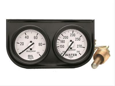 Autometer 2326 Autogage Mechanical Oil/Water Black (Autometer Autogage Mechanical Water)