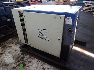 Quincy Qsb 15 15 Hp. Rotary Screw Air Compressor 1yr. Airend Warranty