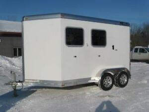 2019 4-Star Trailer 2 Horse Slant Load Bumper Pull Dress Room
