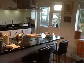 Two bedroom semi detached house to rent with south facing garden and open fire. Pets welcome.