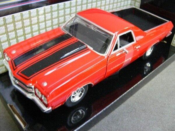 1/24 Motor Max Chevy El Camino SS 396 1970 rot 79347