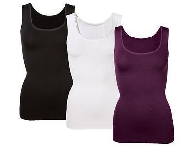 Lycra-hemd (Jolinesse Tanktop Top Unterwäsche Schwarz Seamless LYCRA Hemd Unterhemd DamenR24)