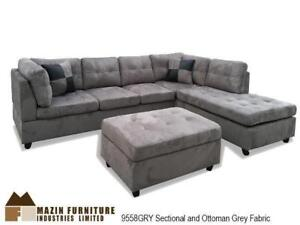 Grey Sectional with Ottoman (MA785)
