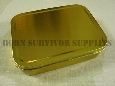 - SURVIVAL KIT TIN - Large Empty 2oz Tobacco Baccy Plain Metal Storage Bit Box SAS