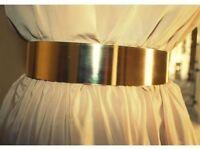 Gold Metal Statement Belt Chunky High Waist Shiny Belt New Trend New Fashion Hot Womens Accessories