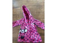 Kids Minnie Mouse rain coat / jacket - 12 - 18 months