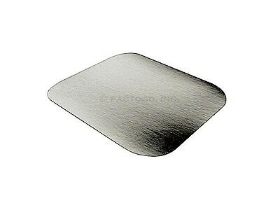 Foil Laminated Board Lid (Foil Laminated Board Lid for 1 lb. Oblong Aluminum Containers 50/PK - LIDS ONLY )