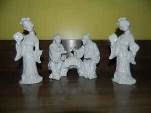 """Chinese Porcelain Figurines 7"""" in high"""