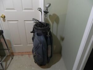 Golf Bag (BagBoy) with cover & some clubs