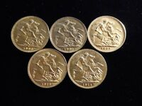 Old Sovereign Gold Coins