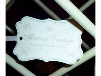 NEW! Habitat Style 'Maison' Vintage White Love Bird Wine Rack ~ Weddings ~ BARGAIN!
