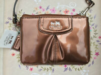 Coach Wristlet - Copper Patent Leather (Tag attached)