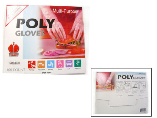 200 Medium Poly / Disposable / Food Service / Beauty Gloves
