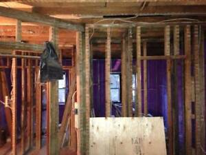 Drywall , ceiling, stucco , framing and taping