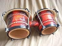 """Cuban style bongos. 7"""" & 8.5"""" hardwood shells"""