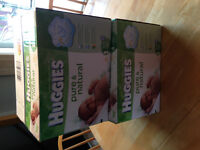 2 Unopened Boxes Size 1 Huggies Pure & Natural