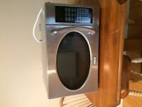 Small  stainless steel microwave