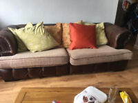 Chesterfield style sofa 3 seater and 2 seater