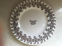 Royal Albert Bone China 25th Silver Wedding Anniversary Plate