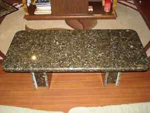Green Marble Granite Coffee Table - Custom Made