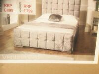 BRAND NEW LUXURY CRUSHED VELVET DOUBLE BEDS