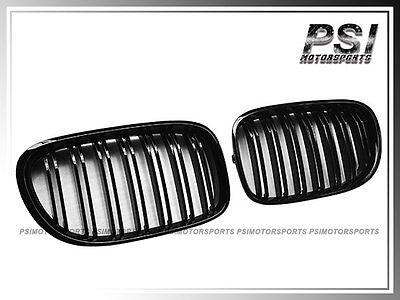 2008-2015 BMW F01 F02 7-Series Shiny Black Front Kidney Grille 730d 740i (Bmw 740i Grille)