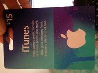 $15 itunes Gift Card For Sale (Asking $10)