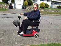 PORTABLE SONIC Lightweight SCOOTER Mobility Wheelchair NEW BATT