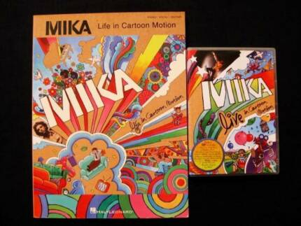 Mika - Life In Cartoon Motion Songbook + DVD [Piano/Vocal/Guitar]