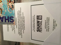 2 tickets for Shaw Festival Peter and the Starcatcher Value 200.