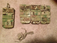 condor triple m4 open top pouch MULTICAM