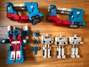 Vintage Toys. Transformers, Micronauts, gas station figures