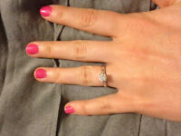 ENGAGMENT RING AND WEDDING BAND (REDUCED)$2000 FIRM