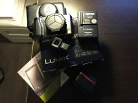 Panasonic Lumix LX5 w/ Leica Case, Extra Battery and Viewfinder