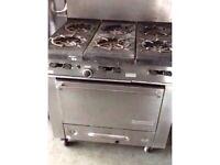 Six burners cooker