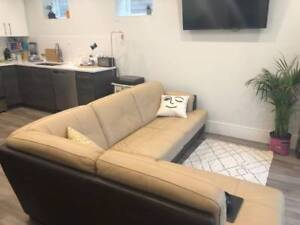 Leather sectional couch great condition