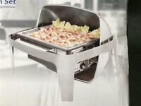 Sunnex Stainless Steel Electric Roll Top Chafer 13.5Ltr Capacity
