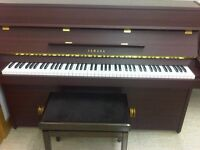 Yamaha upright piano - satin mahogany