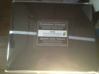 Brand New (Never Used) Black Queen Size Sheets