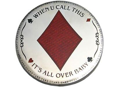 Poker Card Guard CARO Metall massiv, tolle Optik 1487