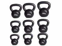 Kettlebells Cast Iron 4kg- 50kg Kettlebells, Cast Iron From £8.00 Free Workout DVD