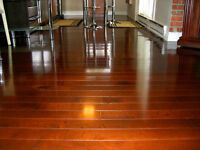 Excellent Hardwood Floors. Laminate $1.00/sf, hardwood $1.50/sf