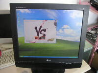 "LG M1917A FLATRON - 19"" LCD TV PC Monitor with Build in Speakers CCTV"