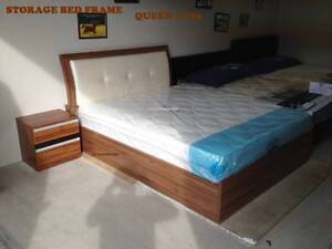 print   STORAGE BED FRAME + EURO TOP MATTRESS PACKAGE FOR SALE B
