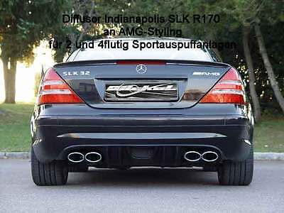 Mercedes SLK R170 Diffusor Indianapolis f. AMG Stylingpaket Ausgang links&rechts